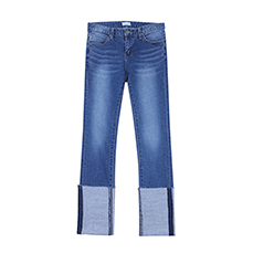 roll up denim pants
