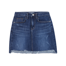 Washing unbal denim skirt