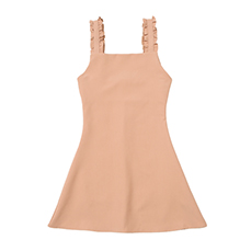 Frill sleeveless flare onepiece